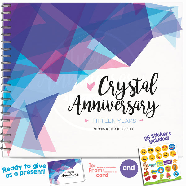 Crystal Gift Ideas 15th Wedding Anniversary: 15TH ANNIVERSARY GIFTS FOR COUPLES BY YEAR