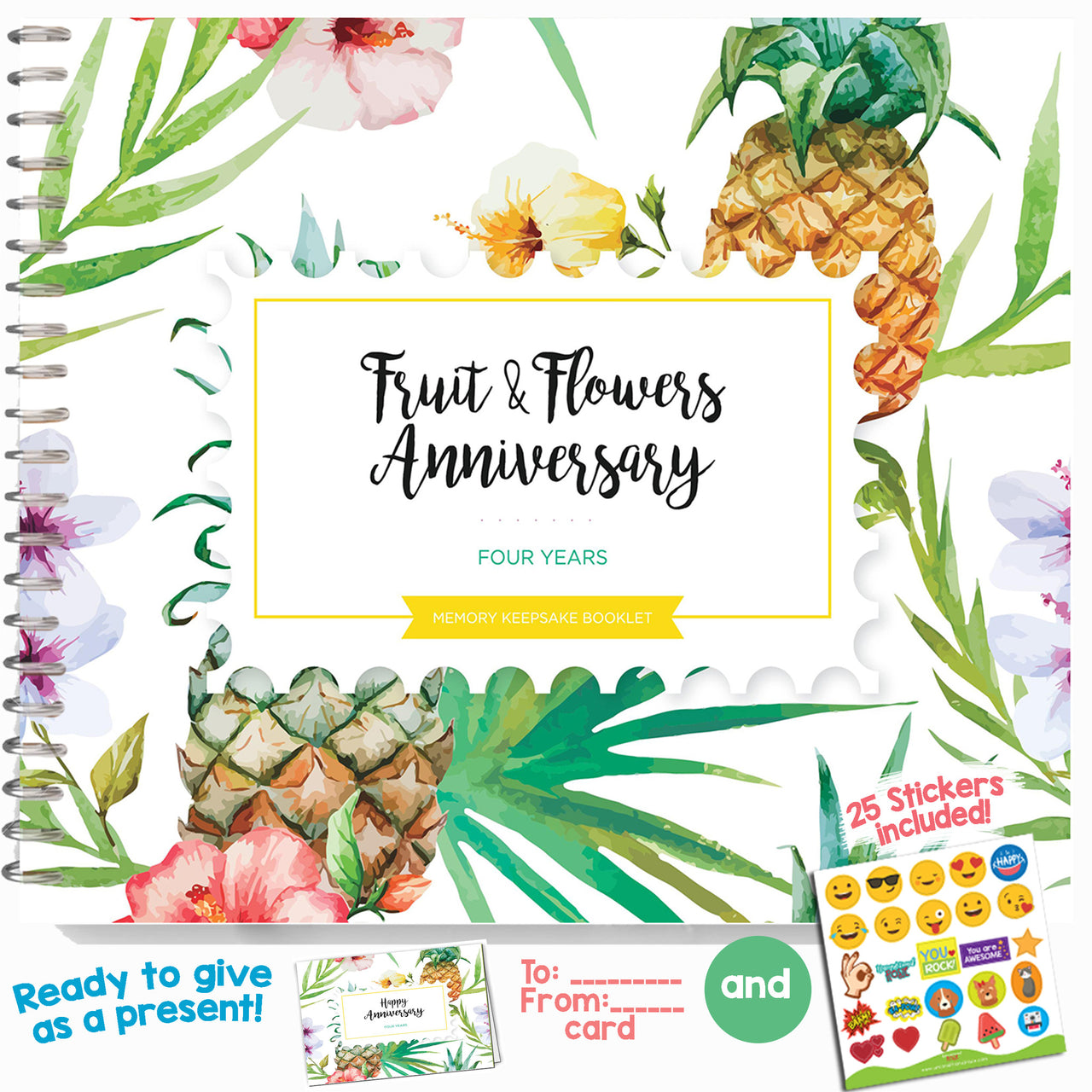 Fruit And Flowers Wedding Anniversary Gifts