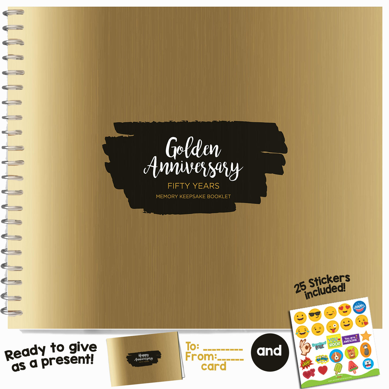 Fifty Year Booklet with Matching Card for Golden Anniversary