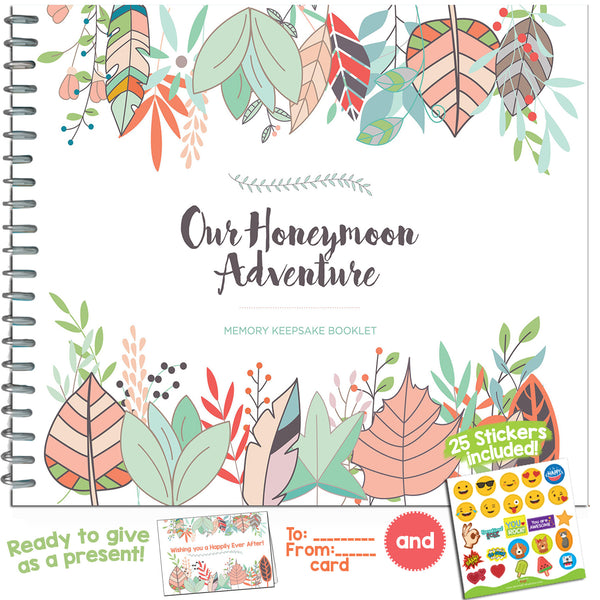 THE PERFECT HONEYMOON GIFT - Unconditional Rosie Honeymoon Memory Journal with Matching Card and Emoji Stickers!