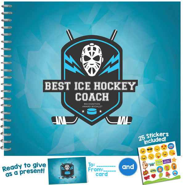 Best Ice Hockey Coach Recognition Award Booklet