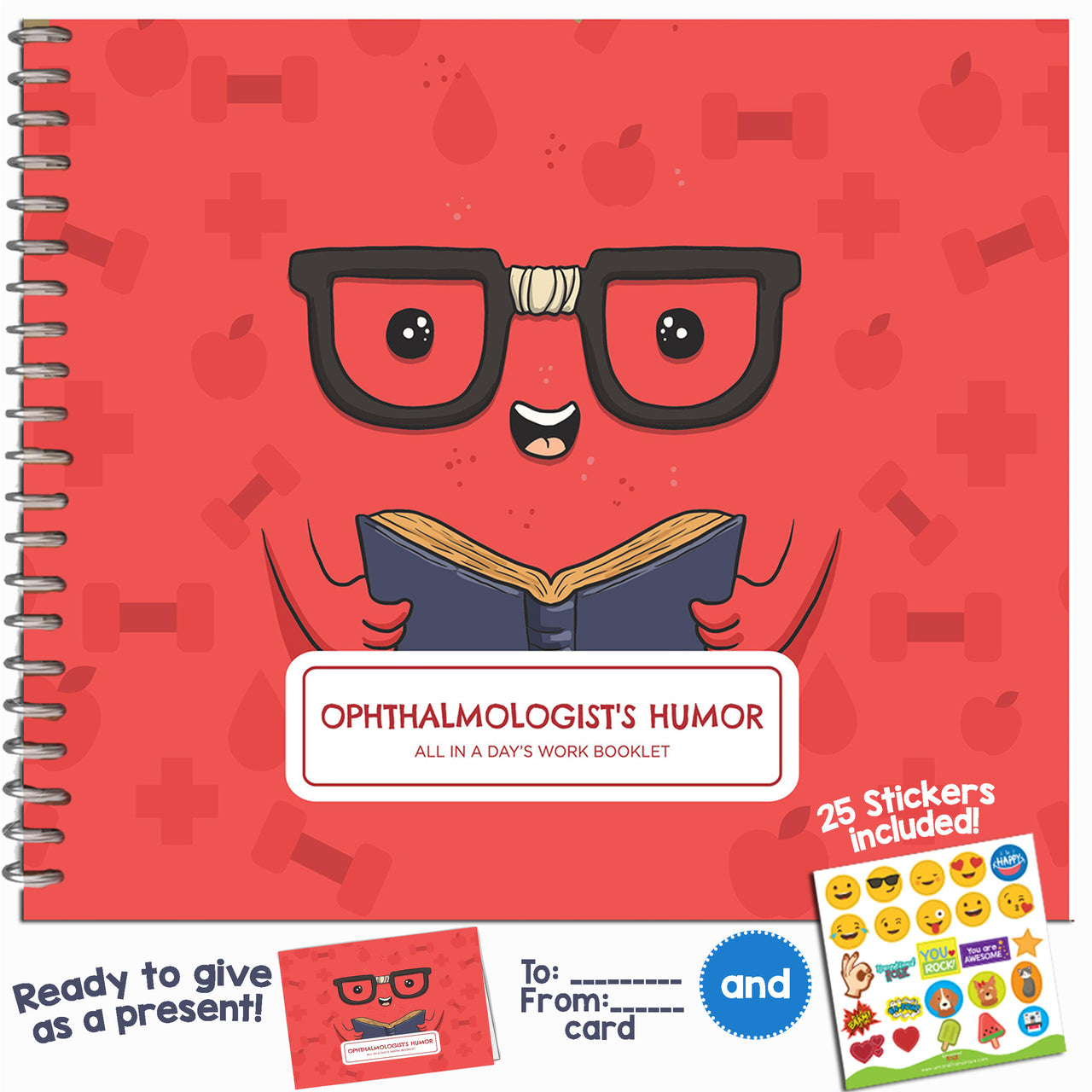 OPHTHALMOLOGIST GIFTS - Personalizable Humor Booklet With Matching Card
