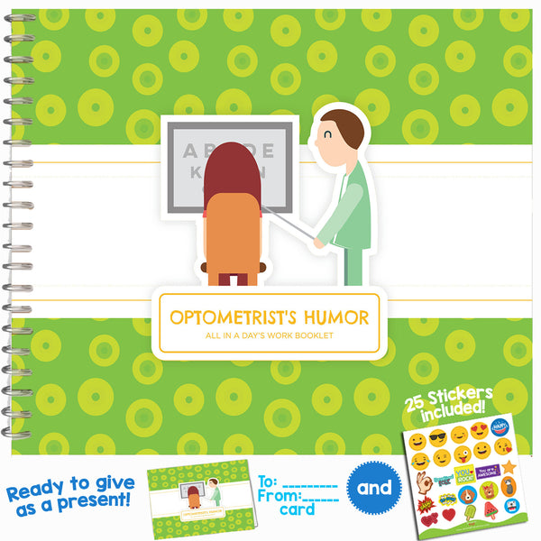 OPTOMETRIST GIFTS - Personalizable Humor Booklet With Matching Card