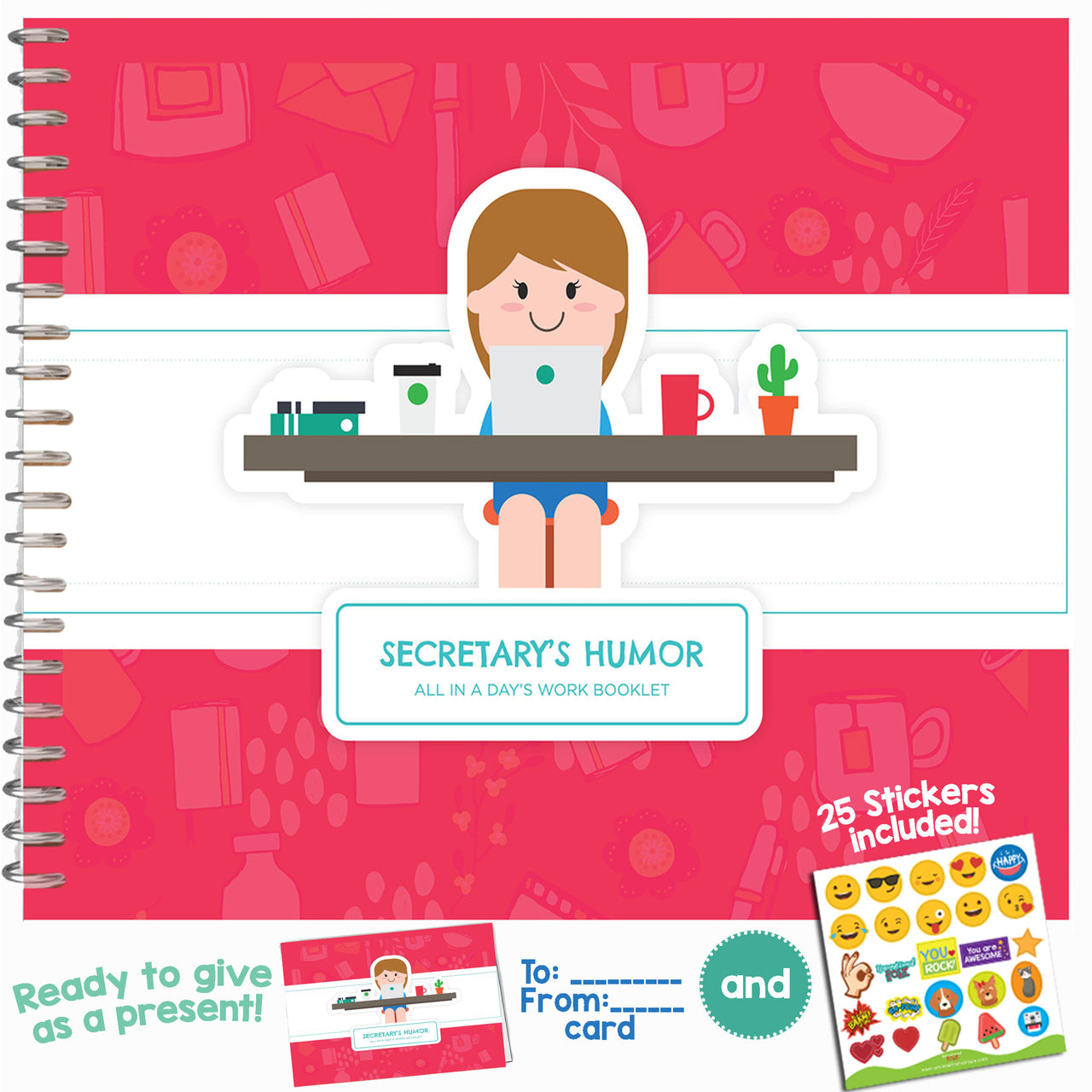 SECRETARY GIFTS - Personalizable Humor Booklet With Matching Card