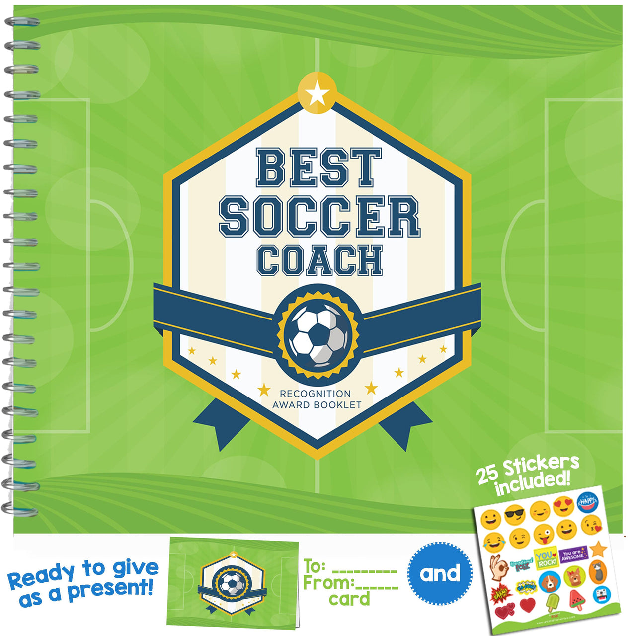 Best Soccer Coach Recognition Award Booklet