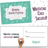 1ST ANNIVERSARY GIFTS FOR COUPLES BY YEAR - One Year Booklet with Matching Card for Paper Anniversary