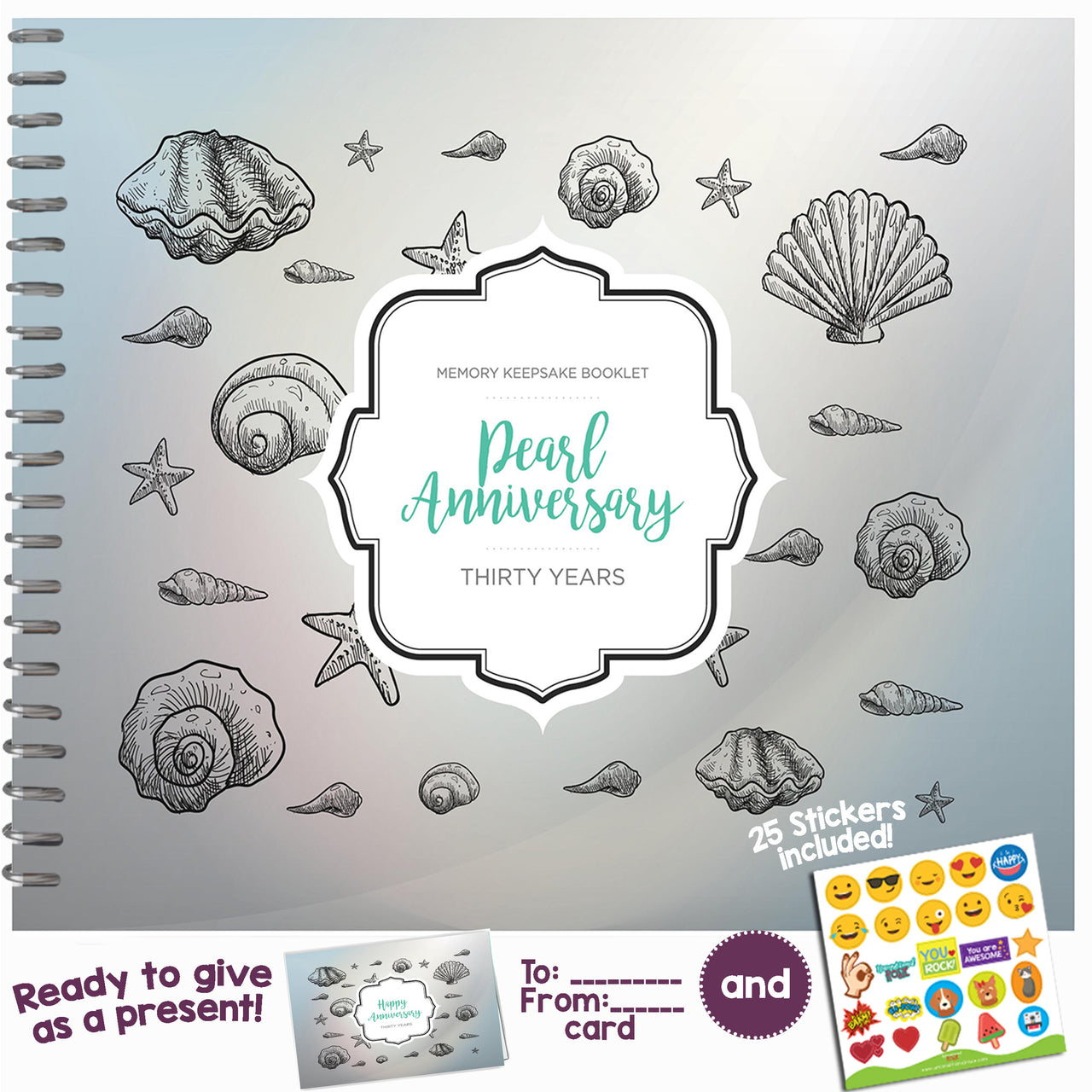 Thirty Year Booklet with Matching Card for Pearl Anniversary