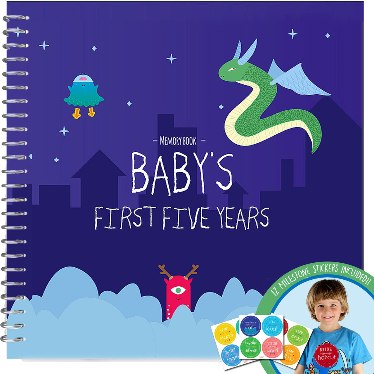 Memory Book with 12 Milestone Stickers