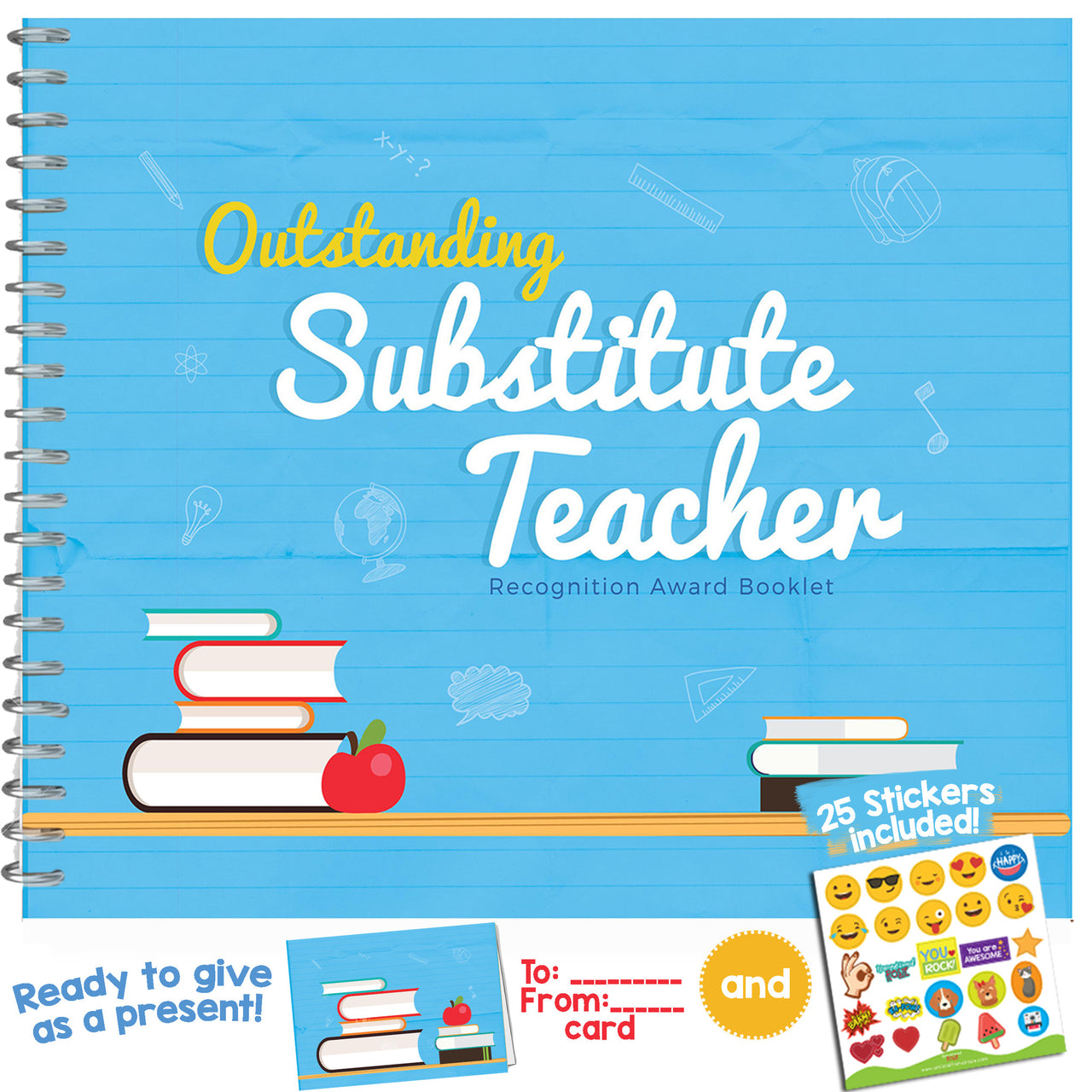 SUBSTITUTE TEACHER GIFTS - Recognition Award for The Best Substitute Teacher Ever.