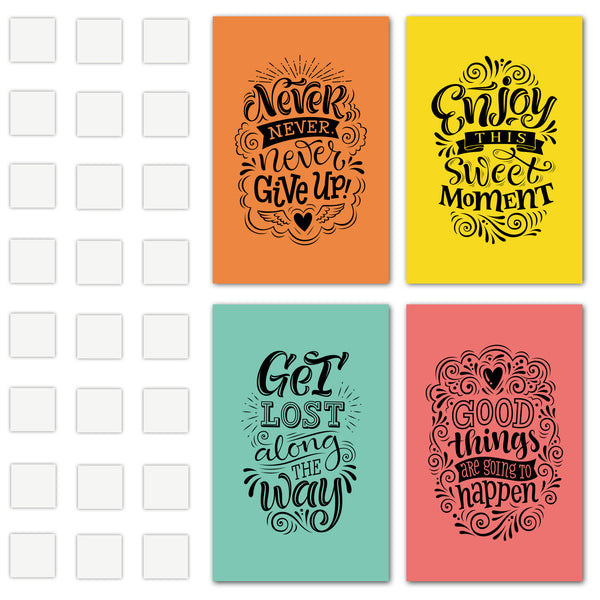Matching Set Of Four Decorative 11X17 Inspirational & Motivational Art Prints