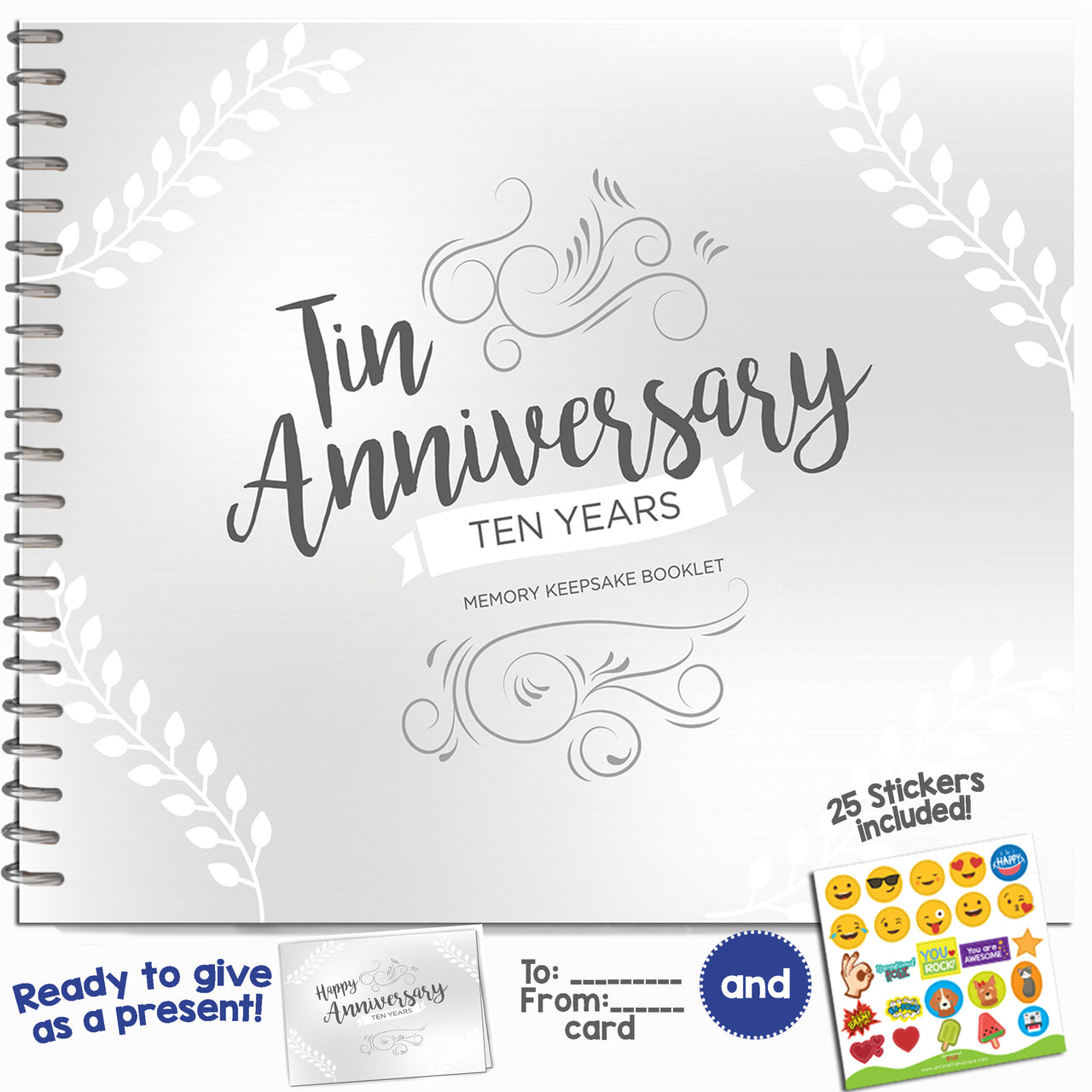 Ten Year Booklet with Matching Journal,Card