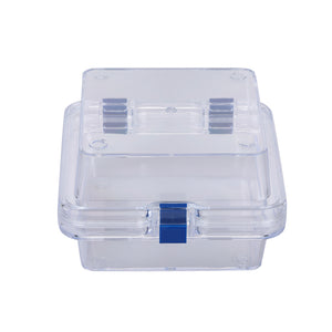 Clear Membrane Box (125mm X 125mm X 75mm) Display Jewelry Precious Stones Optics Dentures(package of 4)