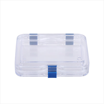 Clear Membrane Box 125mm X 100mm X 30mm) Display Jewelry Precious Stones Optics Dentures (package of 4)