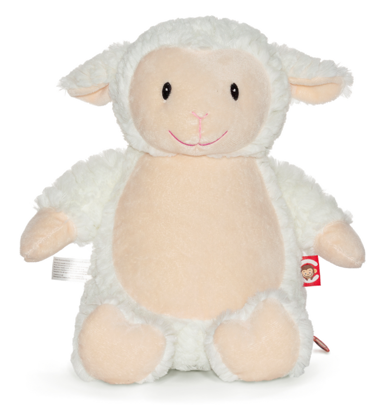 Personalised Fluffy Lamb - Jessie's Baby Boutique