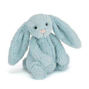 Personalised Bashful Bunny Aqua - Jessie's Baby Boutique