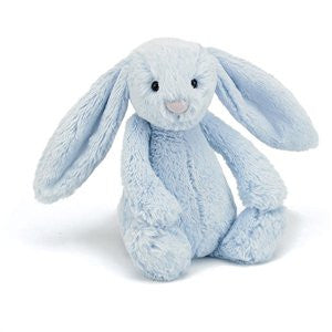 Personalised Bashful Bunny Blue - Jessie's Baby Boutique
