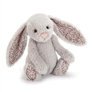 Personalised Bashful Bunny Blossom Silver - Jessie's Baby Boutique