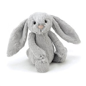 Personalised Bashful Bunny Silver - Jessie's Baby Boutique