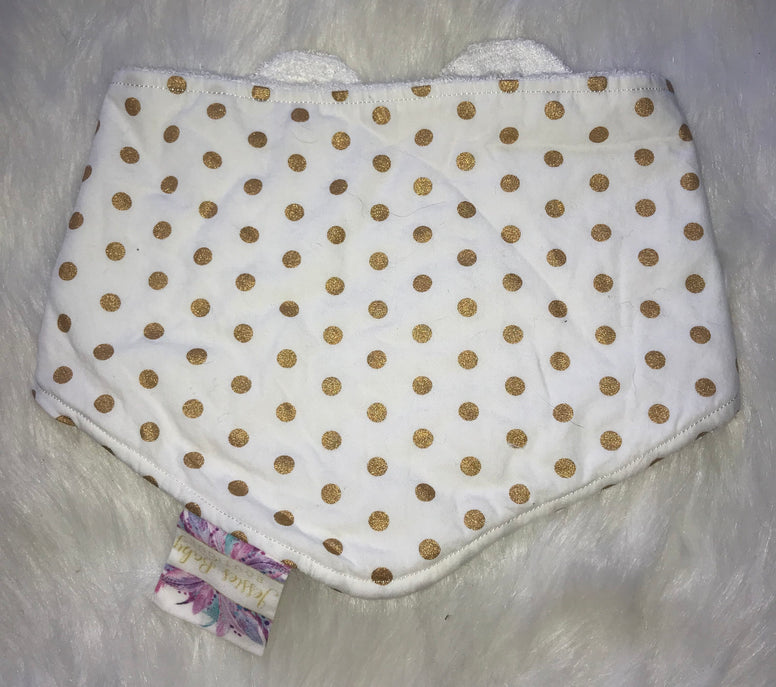 Dot Gold Bib - Jessie's Baby Boutique
