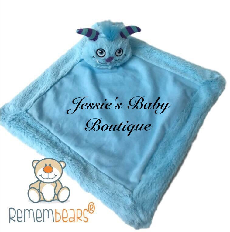 Personalised Blue Monster Blankie - Jessie's Baby Boutique