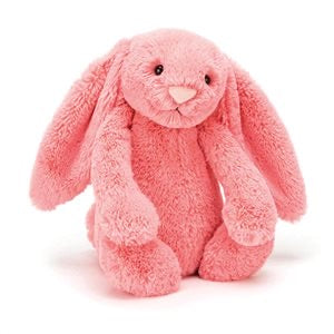 Personalised Bashful Bunny Coral small