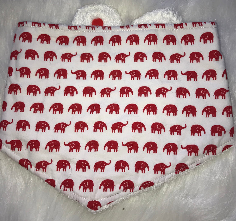 Elephant Red Bib - Jessie's Baby Boutique