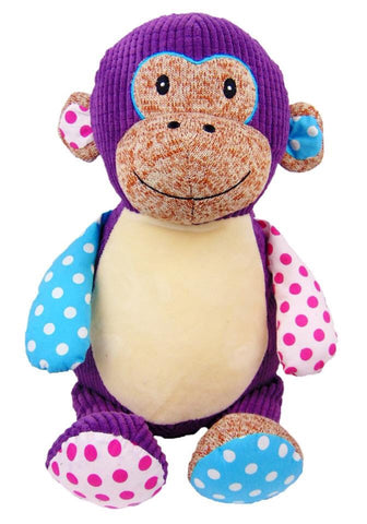 Personalised Harlequin Purple Monkey - Jessie's Baby Boutique