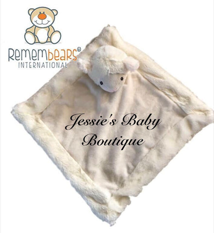 Personalised Lamb Blankie - Jessie's Baby Boutique