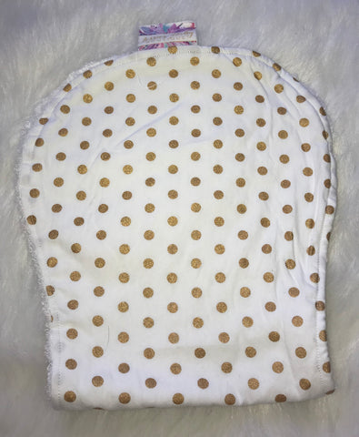Dot Gold Burp Cloth - Jessie's Baby Boutique