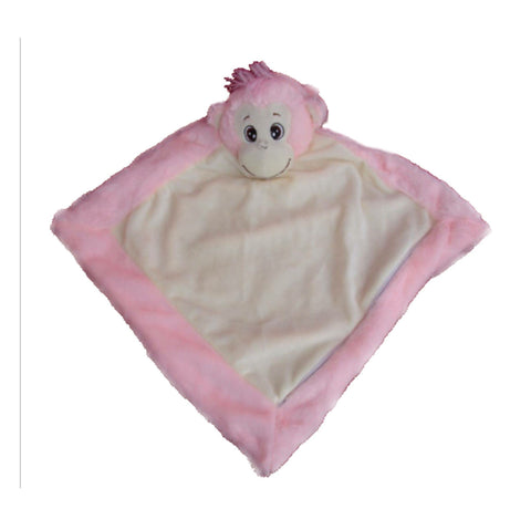 Personalised Pink Monkey Blankie - Jessie's Baby Boutique