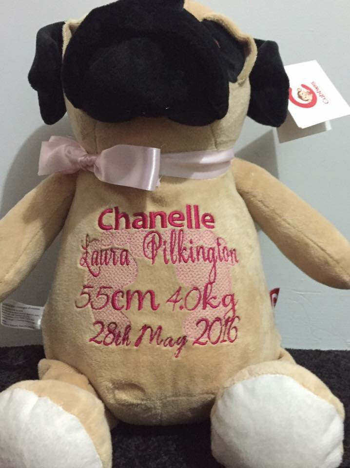 Personalised Pug - Jessie's Baby Boutique