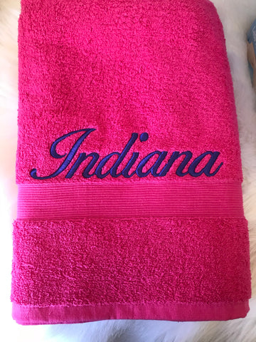 Personalised Bath Towel - Jessie's Baby Boutique