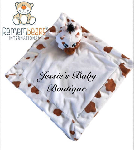 Personalised Cow Blankie - Jessie's Baby Boutique