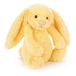 Personalised Bashful Bunny Lemon small - Jessie's Baby Boutique