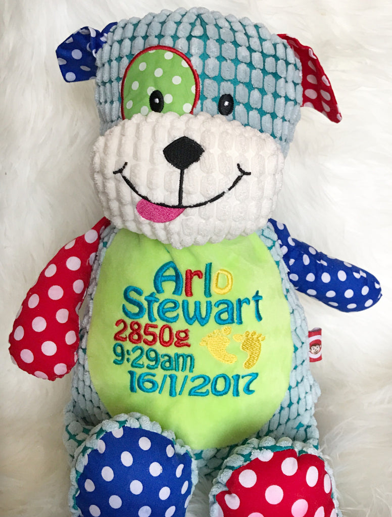 Personalised Harlequin Dog - Jessie's Baby Boutique