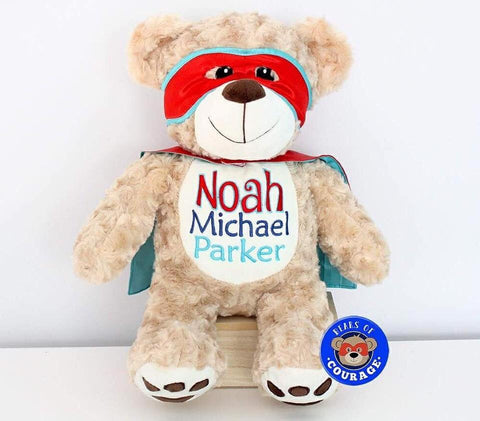 Personalised Bears of Courage Red - Jessie's Baby Boutique