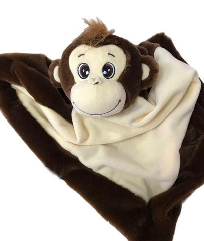 Personalised Brown Monkey Blankie - Jessie's Baby Boutique