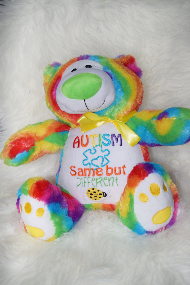 Personalised Rainbow Bear - Jessie's Baby Boutique