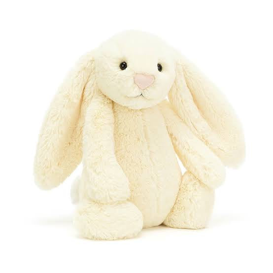 Personalised Bashful Bunny Buttermilk small