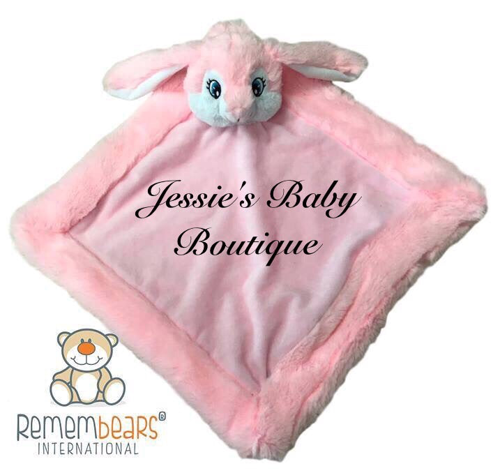Personalised Pink Bunny Blankie - Jessie's Baby Boutique