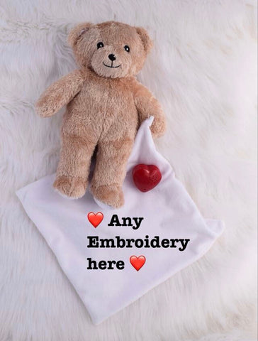 Persoanlised hold my heart bear - Jessie's Baby Boutique