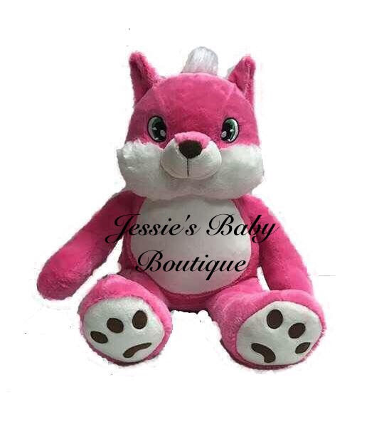 Personalised Pink Fox - Jessie's Baby Boutique