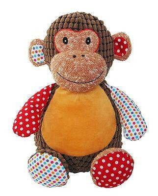 Personalised Harlequin Monkey - Jessie's Baby Boutique