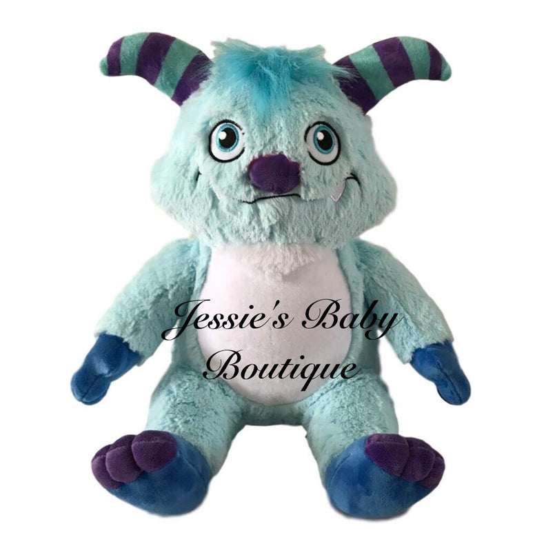 Personalised Blue Monster - Jessie's Baby Boutique