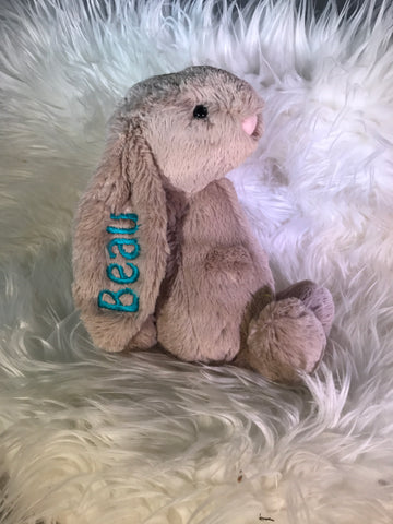 Personalised Bashful Bunny Beige - Jessie's Baby Boutique
