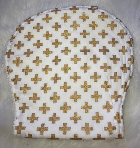 Cross Gold Burp Cloth - Jessie's Baby Boutique