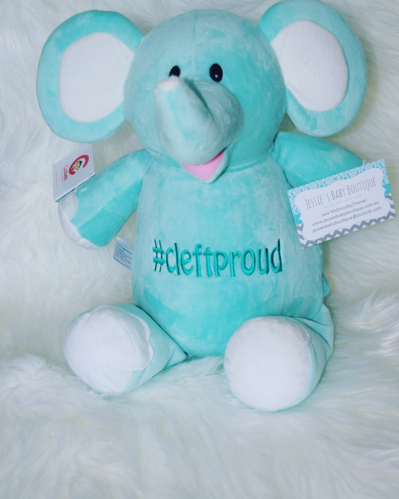 Personalised Mint Elephant - Jessie's Baby Boutique