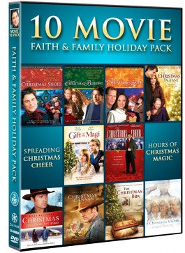 10 Movie Faith and Family Holiday Pack 3 DVD Set