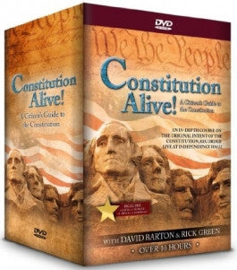 Constitution Alive! 4 Volume 6 DVD Set includes Class Work Book from David Barton