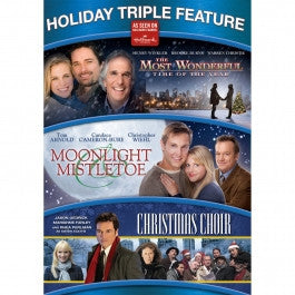 Holiday Triple Feature: The Most Wonderful Time Of Year/ Moonlight & Mistletoe/ The Christmas Choir DVD